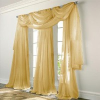 Elegance Voile GOLD Sheer Curtain