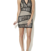 V-Neck Lace Panel Dress | Shop Dresses at Arden B