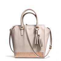 legacy mini tanner crossbody in studded leather