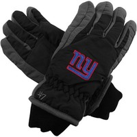 '47 Brand New York Giants Youth Carve Ski Gloves - Black