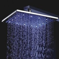 10 Inch Chrome Brass Shower Head With Faint LED Light (0698 -L-4205) - US&amp;#36; 333.30