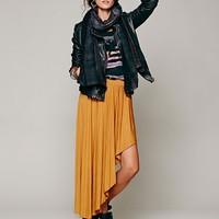 Free People Knit Asymmetrical Midi