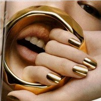 350BUY Nail Art Polish Gold Metallic Foil Sticker Patch Wraps Tips 16pcs:Amazon:Health & Personal Care