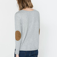 STRIPED SWEATER WITH CONTRASTING ELBOW PATCHES - T - shirts - TRF | ZARA United States