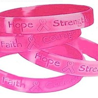 Lot Of 48 Pink Ribbon Camo ~ Breast Cancer Awareness Bracelets:Amazon:Toys & Games