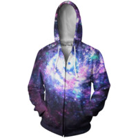 Worm Hole Zip-Up Hoodie