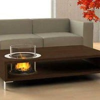 Coffee Table with an Eco-friendly Fireplace