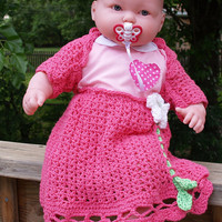 Pink Skirt &amp; Shrug set for baby 912 months by staceyLynnCreates