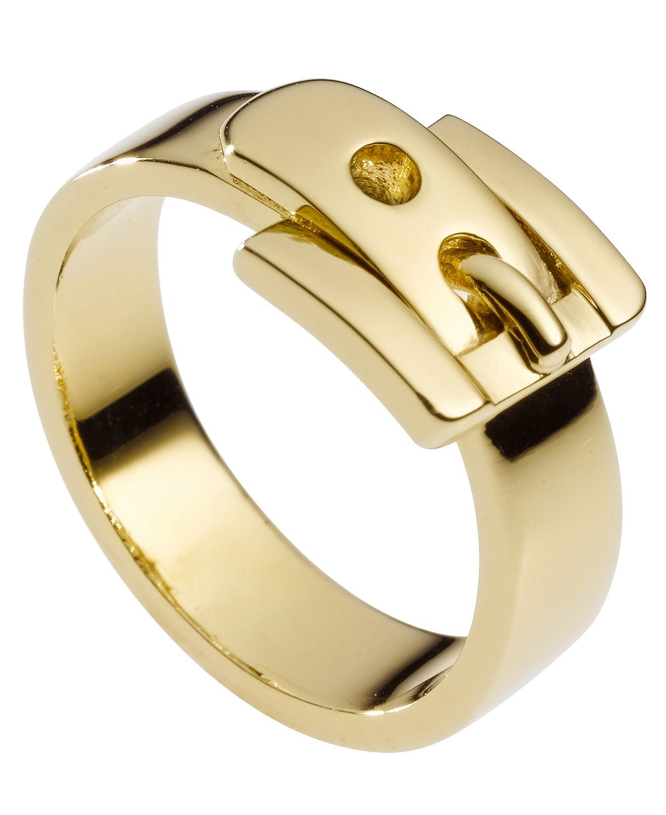 Michael Kors Ring Gold Tone Buckle Ring from Macys