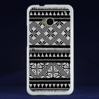 Aztec Dust Proof Soft Gel Flexible TPU Rubber Smart Cell Phone Case Cover for the New HTC One M7 801e with Retail Packaging