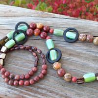 New ~~ Red Creek Autumn - Beaded Necklace