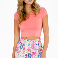 Short and Scoop Crop Top $14