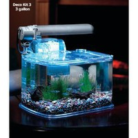 TOM Aquarium Deco Kit - 3gal Aquarium Kit - PC Lighting &amp; Filter