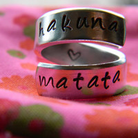 Hakuna Matata //The original  twist  STERLING SILVER ring Version III