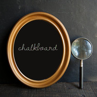 Chalkboard Sign - Vintage Upcycled Oval Frame