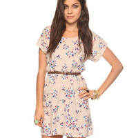Belted Floral Dress | FOREVER21 - 2005758053