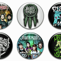 Pierce The Veil Pinback Buttons Badges Pins Set 2