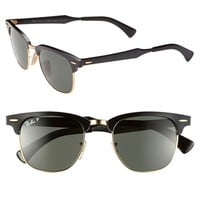 Ray-Ban Polarized 'Clubmaster' 49mm Sunglasses | Nordstrom