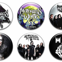 Motionless In White Pinback Buttons Badges Pins