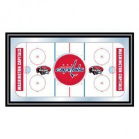 Trademark Global NHL Washington Capitals Framed Hockey Rink Mirror - NHL1500-WC - Framed Art - Wall Art &amp; Coverings - Decor