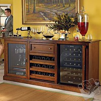 Siena Wine Credenza with 28 Bottle Touchscreen Wine Refrigerator - Wine Enthusiast