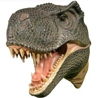 Wall Mounted T-rex Dinosaur Head Tyrannosaurus Rex Hanging Display Plaque Decor:Amazon:Home & Kitchen