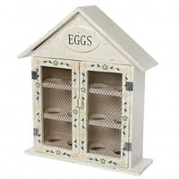 Hand Painted Wooden Egg House For 12 Eggs | DotComGiftShop