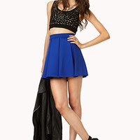Cool Pleated Skater Skirt