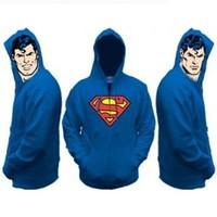 Superman All View Men's Zip Hooded Sweatshirt:Amazon:Clothing
