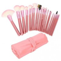 Wholesale 22pcs Professional Cosmetic Makeup Brush Set with Pink Bag Pink Christmas Gift:Amazon:Beauty