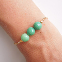 Chrysoprase Bracelet - Mint Green Jewelry