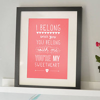 'I Belong With You' Lumineers Print