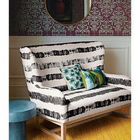 Suitor Graphite Stripe Loveseat