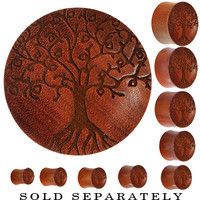 Organic Sawo Wood Tree of Life Saddle Plug | Body Candy Body Jewelry