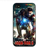 Ron Man 3 Little Robert Downey Jr. Fashion Design Hard Case Cover Skin Protector for Iphone 4 4s Iphone4 At & T Sprint Verizon Retail Packing (Black Pc + Pearlescent Aluminum) Fs-00265:Amazon:Cell Phones & Accessories