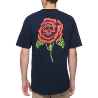 Obey Death Rose Blue Pocket Tee Shirt at Zumiez : PDP