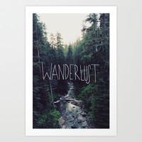 Wanderlust: Rainier Creek Art Print by Leah Flores Designs