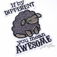 Awesome Black Sheep  Iron On Patches Steampunk gothic anime punk