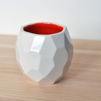 Supermarket: Modern handmade espresso cup faceted design by studio lorier from Sander lorier