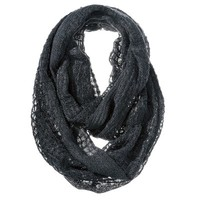 Mossimo Supply Co. Solid Fringe Infinity Scarf - Black