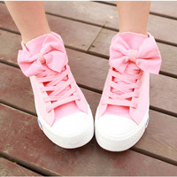 High Help Lovely Bowknot Canvas Shoes A 082606 BB