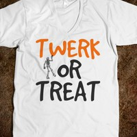 Twerk or Treat Halloween tshirt tee t shirt shirts-White T-Shirt