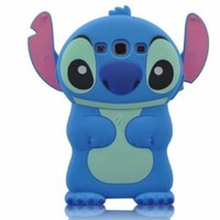 Authentic Blue Disney 3d Lilo&stitch Silicone Case Cover for Samsung Galaxy S3 I9300 Xmas Gift:Amazon:Cell Phones & Accessories