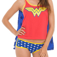 DC Comics Wonder Woman Cape Sleep Set | Hot Topic