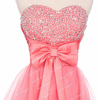 Cheap Ball Gown Sweetheart Neckline Short Mini Prom Dress, Homecoming Dress, Formal Dress