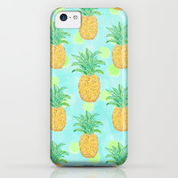 Pineapples and Polka Dots (pattern) iPhone & iPod Case by Lisa Argyropoulos