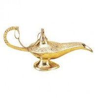 Aladdin Genie Lamp Brass Color Table Decoration