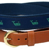 Preston Leather Whale Belt Blue