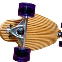 Bamboo Striped Drop Through Thru Cruiser Complete Longboard Skateboard Deck
