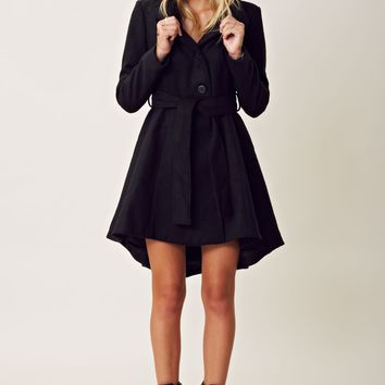 BB Dakota Deena Hi-Low Belted Coat